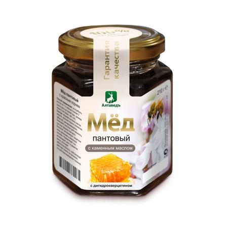 Пантовый мёд с каменным маслом