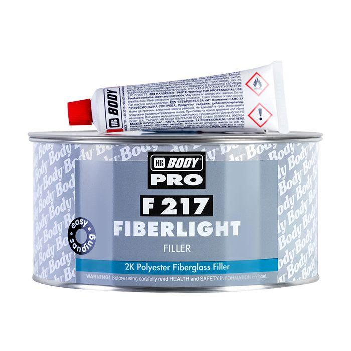 """HB Body Шпатлевка PRO F217 FIBERLIGHT облегченная наполняющая, название цвета """"Зеленый"""", объем 2л."""