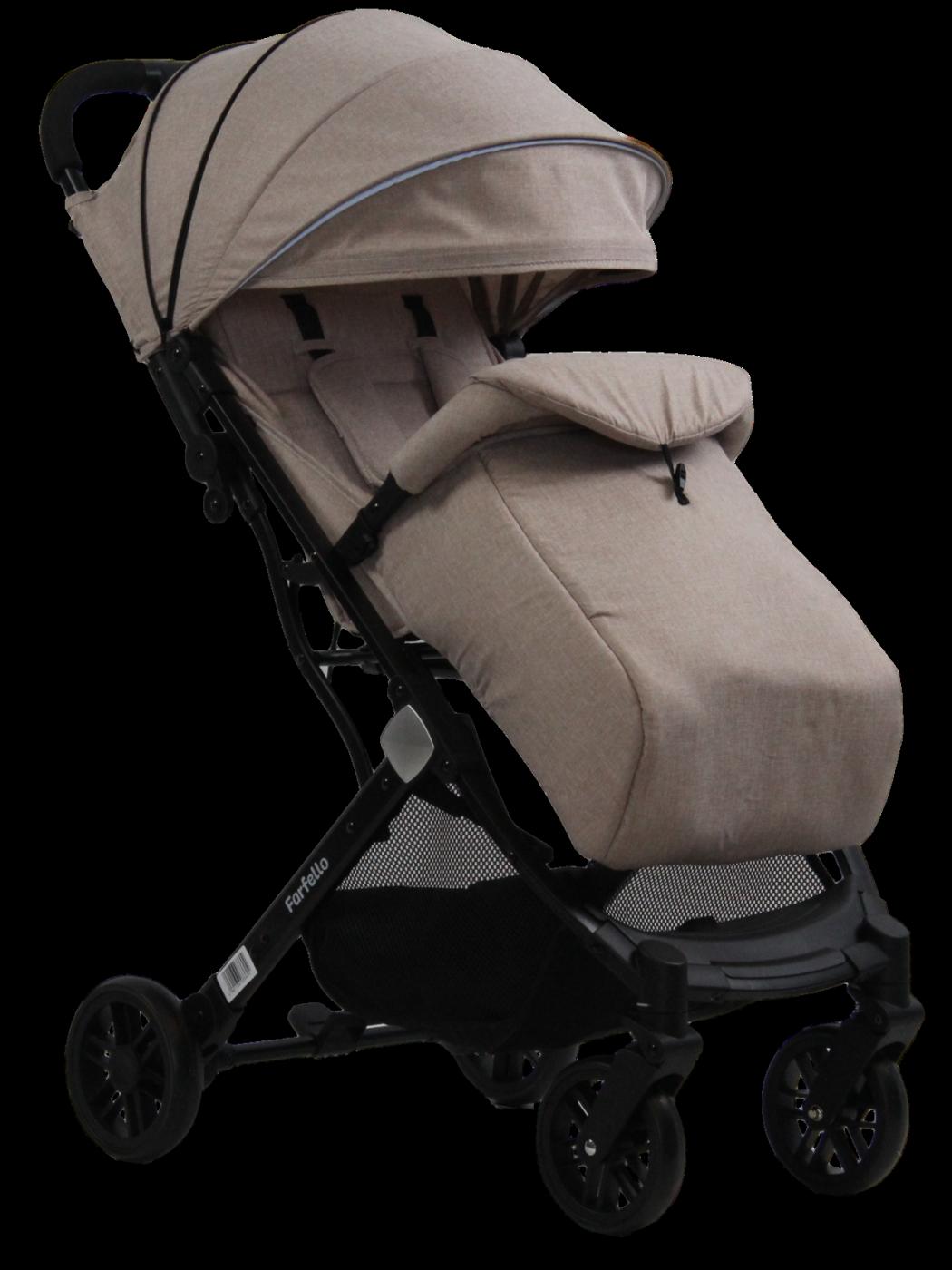 Коляска детская прогулочная Farfello Comfy Go Light beige/бежевый