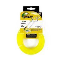 Леска для триммера Crazy Stone диаметр 2 мм (цвет жёлтый)