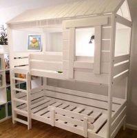 Кровать двухъярусная Домик (двухъярусная кровать домик)