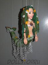 Чешская кукла-марионетка Русалка  - MOŘSKÁ PANNA (Чехия, Praha, Hand Made, авторы  Ивета и Павел Новотные)