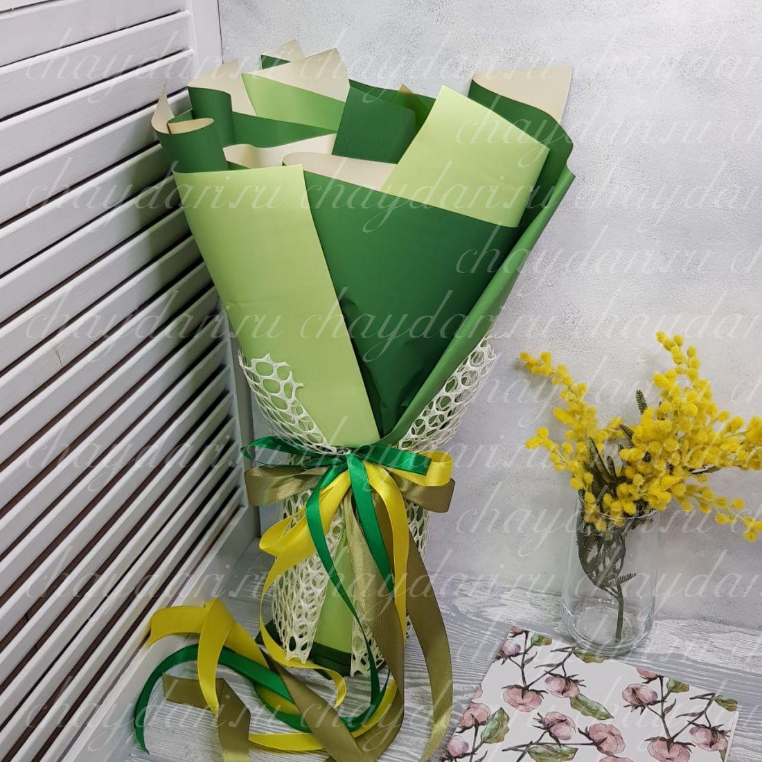 """Букет из чая и сладостей """"Зелень весны"""""""