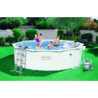 Сборный круглый бассейн Bestway Hydrium 56384 (460х120) с песочным фильтром