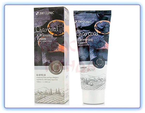 Очищающая пенка уголь 3W Clinic Foam Cleansing Charcoal