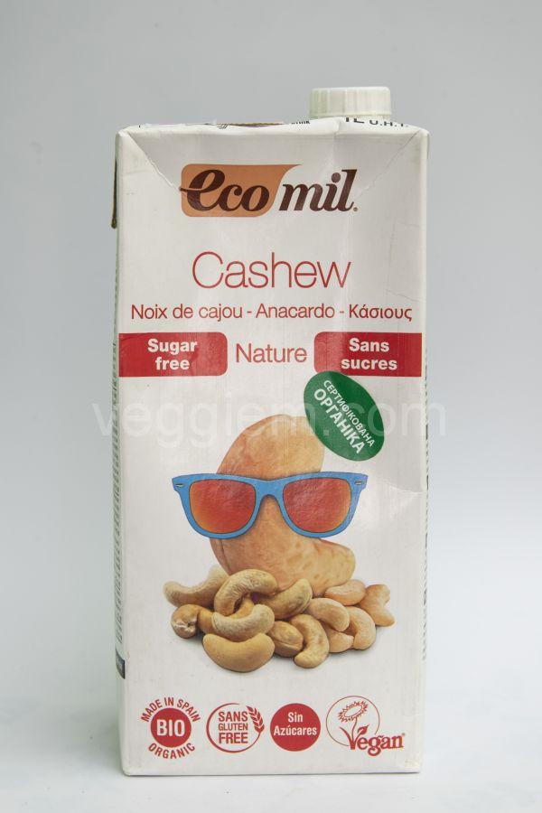 Органическое растительное  молоко кешью без сахара,1000 мл
