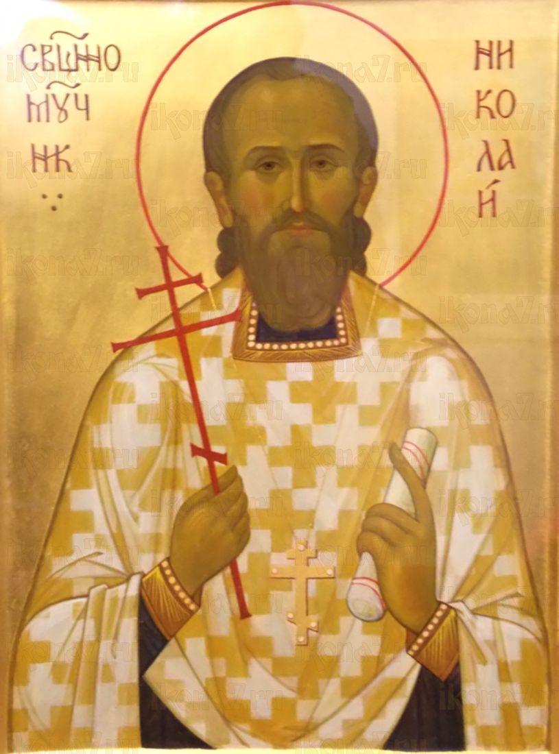 Икона Николай Зеленов священномученик
