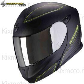 Шлем Scorpion EXO 920 Flux, Черный матовый с флуоресцентным