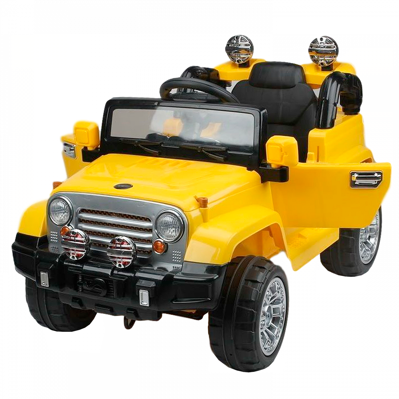 Детский электромобиль (2020) JJ245 (12V, EVA) жёлтый