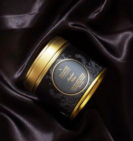 """Шотландская ароматическая свеча """"Абмра Нуар"""" в оловянной тубе AMBER NOIR LARGE CANDLE TIN"""