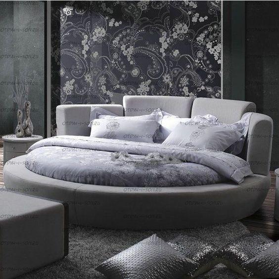 Кровать круглая Амстердам 1068 (б/о)