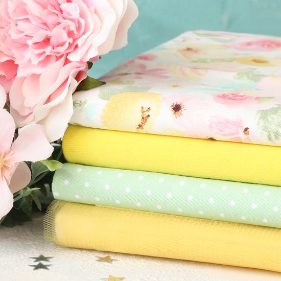 Набор тканей для творчества Жёлтые цветы
