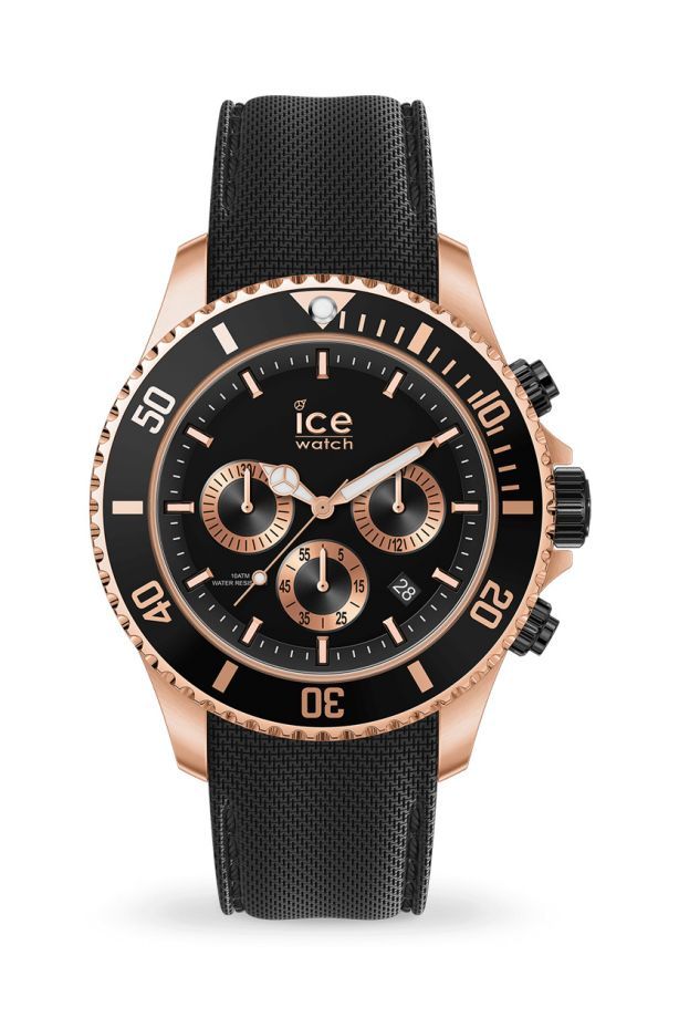Ice Steel - Black Rose-Gold Chrono