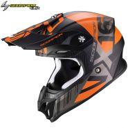 Шлем Scorpion VX-16 Air Mach, Черный матовый с оранжевым
