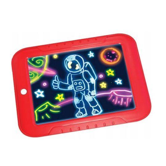 Магический планшет с подсветкой для рисования Magic Sketchpad, красный