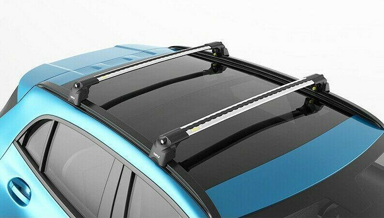 Багажник на крышу Mercedes-Benz GLA-Klass (2013-...), Turtle Air 2, аэродинамические дуги на интегрированные рейлинги (серебристый цвет)
