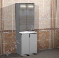 """Шкаф для стиральной машины """"Глосси-С"""" с зеркальным шкафом"""