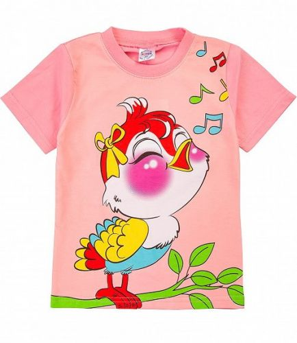 Футболка для девочки 1-4 лет BN001F розовый