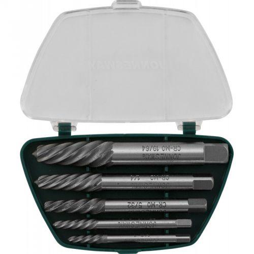 """AG010049 Комплект экстракторов """"съемник шпилек"""" 5/64"""" - 19/64"""", 5 предметов"""
