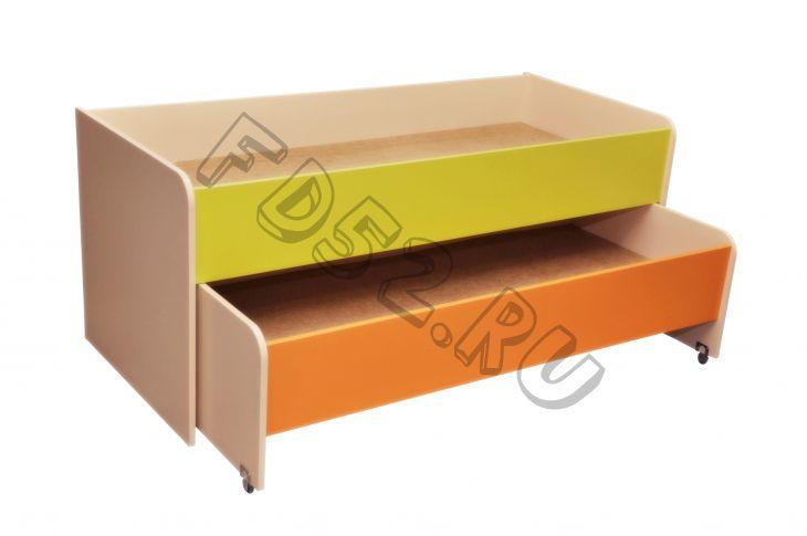 Кровать детская раздвижная 2 яруса «МАТРЕШКА-1» цветная