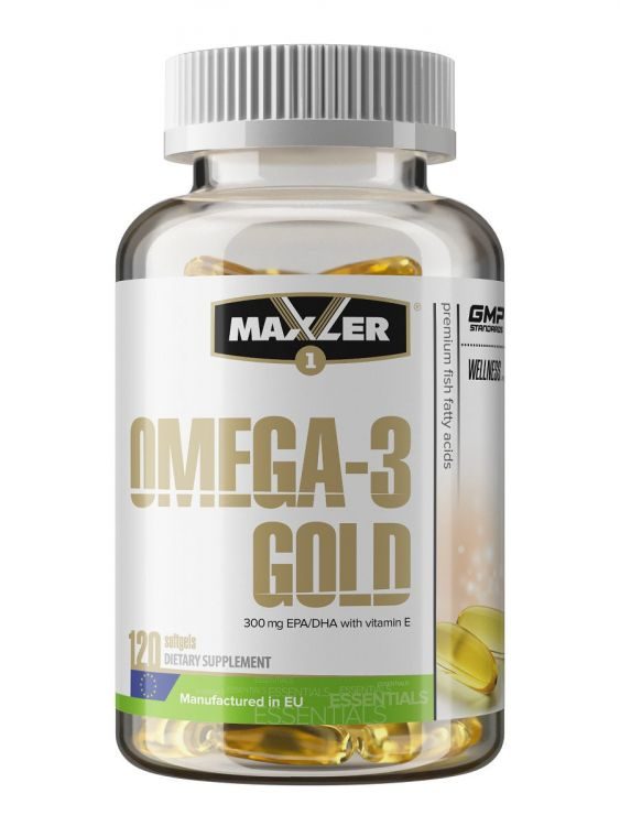 Maxler Omega-3 Gold, 120 кап