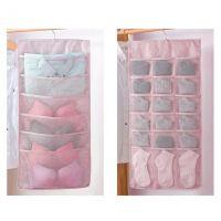 Органайзер подвесной двусторонний 24 кармашка (цвет розовый)