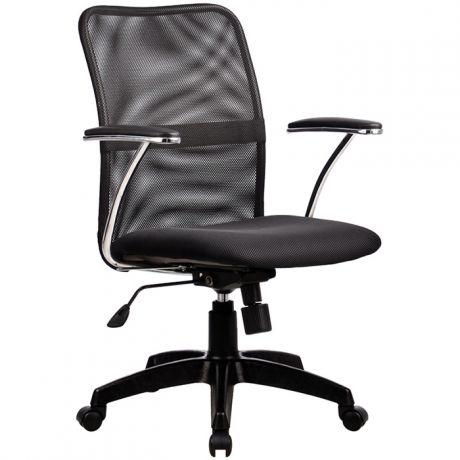 """Кресло компьютерное Метта """"Comfort"""" FP-8 PL, ткань-сетка серая №21, механизм качания"""