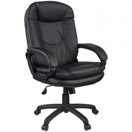 """Кресло руководителя Helmi HL-E68 """"Reputation"""", экокожа черная, мягкий подлокотник"""
