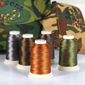 Вышивальные меланжевые нитки Fufus CAMOUFLAGE (5000м)