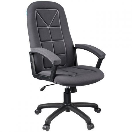 """Кресло руководителя Helmi HL-E89 """"Blocks"""", ткань S cерая, мягкий подлокотник"""
