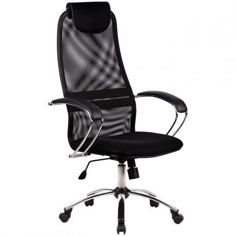 """Кресло руководителя Метта """"Business"""" BK-8 CH, ткань-сетка черная №20, механизм качания"""