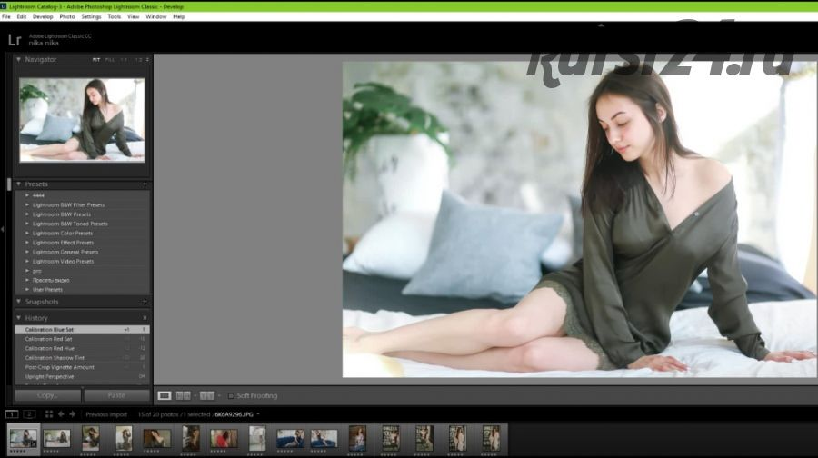 Видео об обработке Lightroom +Photoshop + 3 пресета (Вероника Котлярова)