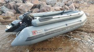 Надувная лодка НДВД ROCKY 395 + Фальшборт (дно высокого давления) GRAY или WHITE