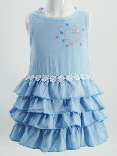 Платье для девочки с рюшками 2-6 лет Bonito OP750P