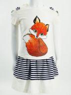 Комплект для девочки с юбочкой 3-7 лет ВК970КР молочная