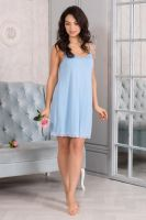 Ночная сорочка арт.0871-57 голубой лед, вискоза