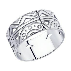 Кольцо из серебра 94013101 SOKOLOV