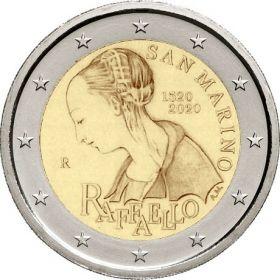 500 лет со дня смерти Рафаэля 2 евро Сан-Марино 2020