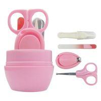 Детский маникюрный набор Baby four set nail scissors (цвет розовый)_3