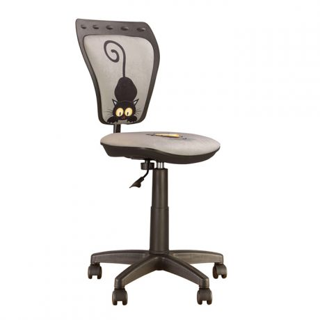 Кресло детское NowyStyl Ministyle, PL, ткань, кот серый (Cat Grey), без подлокотников