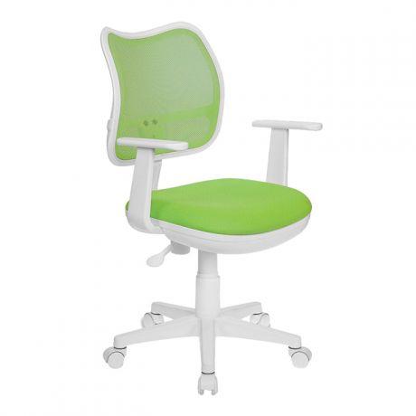 Кресло детское Бюрократ CH-W797, PL, ткань сетка, механизм качания, пластик белый