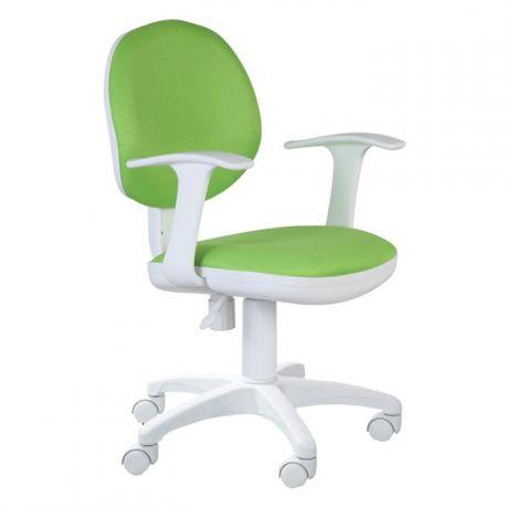 Кресло детское Бюрократ CH-W356AXSN/15-118 салатовый, пластик белый