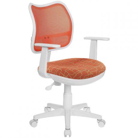 Кресло детское Бюрократ CH-W797/OR/Giraffe ткань оранжевый, пластик белый