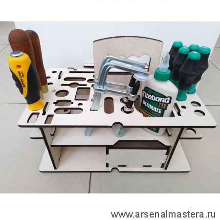 Вкладыш органайзер деревянный (подходит для систейнера Festool  SYS3 M 337) ArMa-15