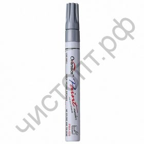 Маркер-краска Overseas PMA-520 СЕРЕБРО на металл резину пластик
