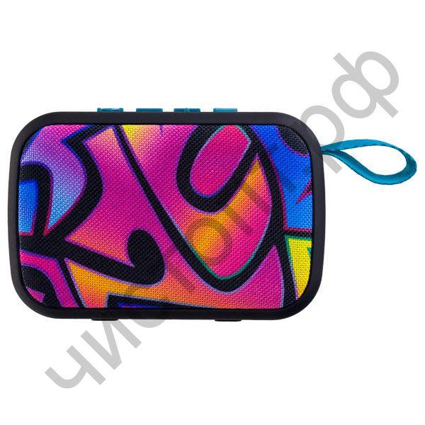 """Колонка универс.с радио Perfeo """"ZENS"""" MP3, microSD, USB, AUX, мощность 5Вт, 500mAh, граффити PF_A4973"""