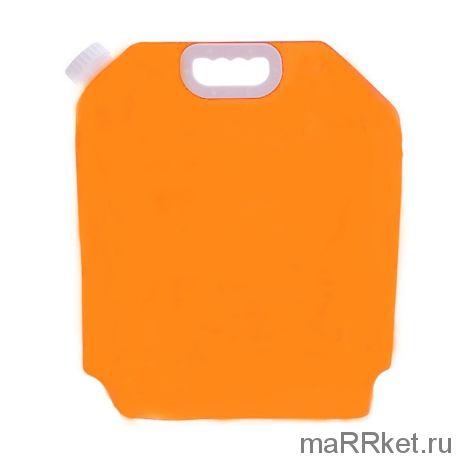Складная канистра для воды с вакуумным клапаном (3 л,оранжевый)