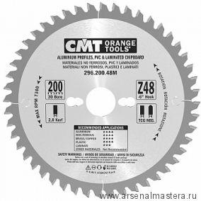 CMT 296.200.48M Диск пильный 200 x 30 x 2,8 / 2,2 -6° TCG Z 48