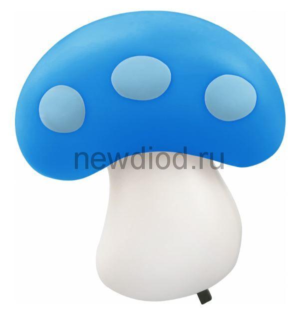 Ночник светодиодный NLA 03-MB ГРИБ синий с выключателем 230В IN HOME