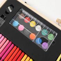 Набор для рисования в деревянном чемоданчике 180 предметов_7